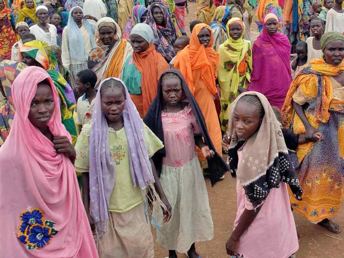 Internally displaced persons camp in Darfur, Sudan