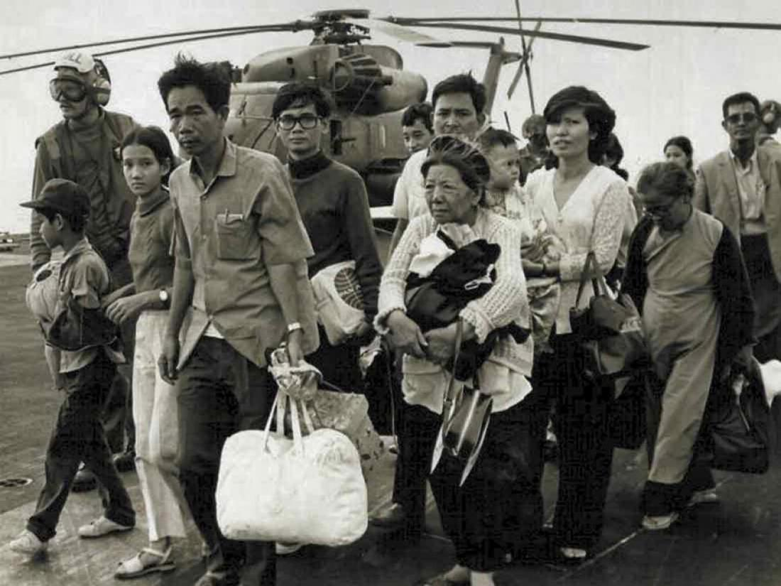 Evacuees during Operation Frequent Wind